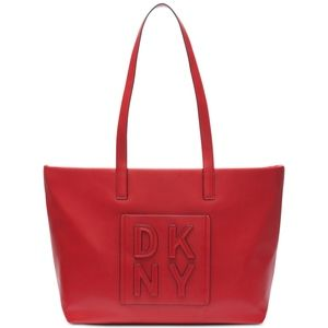 DKNY Tilly Stacked Logo Top Zip Large Tote
